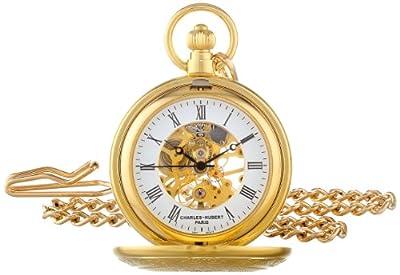 Charles-Hubert Pocket Watch 3527 Gold Plated Half Hunter