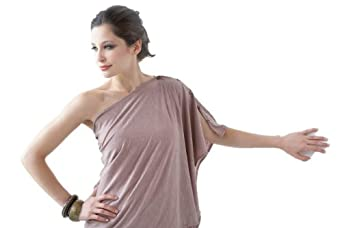 Eco-friendly Maternity and Nursing Poncho - (Muted Mauve)