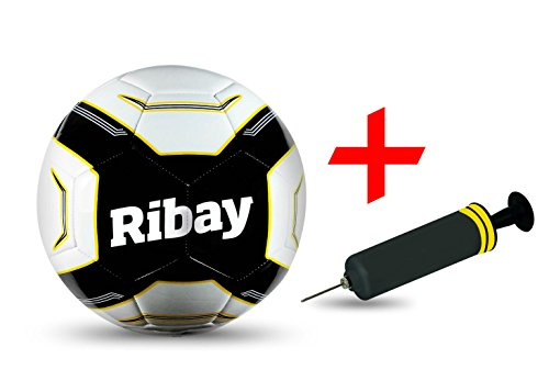 Ribay Soccer Ball Size 5 + BONUS Soccer Ball Pump - Best Soccer Ball for Training & Matches. SELECT SOCCER BALL: Professional Quality for Major League Soccer & Kids