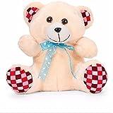 Liviya Teddy Bear With Lace Bow (Cream)