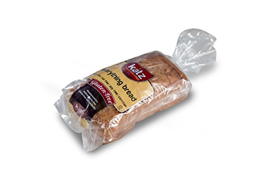 Katz Gluten Free Everything Bread, 18 Ounce, Certified Gluten Free - Kosher - Dairy, Soy, Corn & Nut free - (Pack of 6)