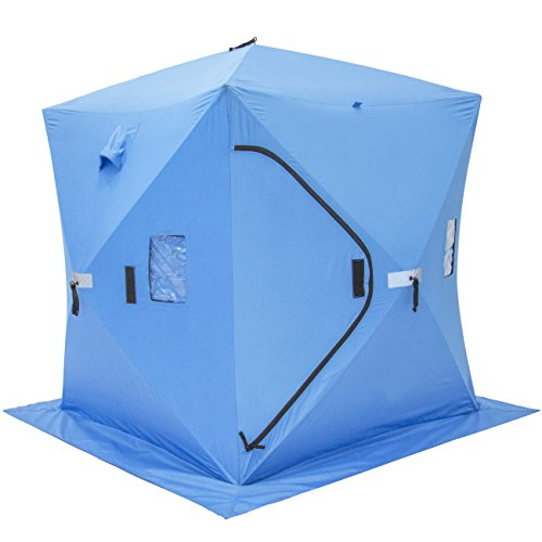 Portable Ice Shelters : Ice fishing shelter tent easy portable waterproof comfort