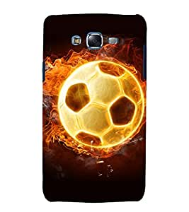 printtech Flaming Football Back Case Cover for Samsung Galaxy Core i8262 / Samsung Galaxy Core i8260