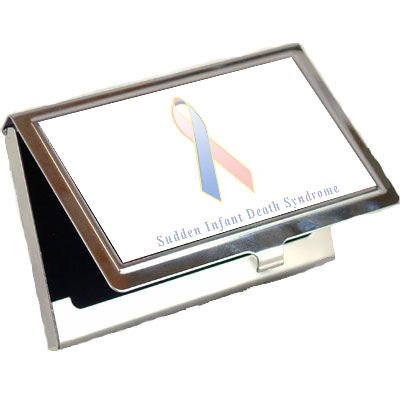 Sudden Infant Death Syndrome Awareness Ribbon Business Card Holder front-135595
