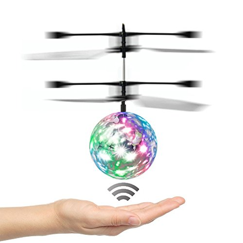 [Speed Running]RC Toy,WEKITY Mini Flying Ball,RC Drone Helicopter Ball with LED Shinning Flashing Lighting Built in Disco Music for Kids, Teenagers