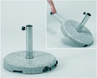 Delschen Granit-Ständer 40kg grau/granit granit,26-55 mm Ed-Rohr von DELSCHEN auf Gartenmöbel von Du und Dein Garten