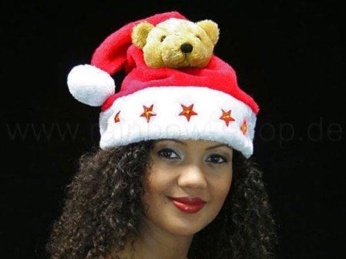 Nikolausmütze mit Teddy und Beleuchtung
