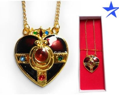 Sailor Moon Pretty Soldier Red Heart Necklace - 1