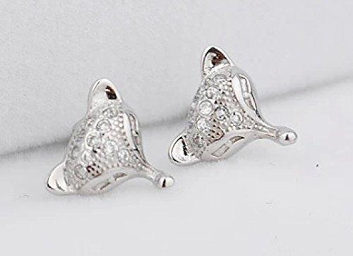 Fox diamond Stud Earrings