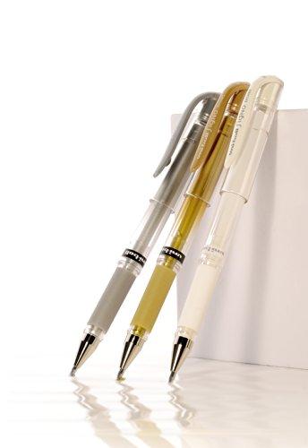 Uni-ball Signo UM-153 - Set de bolígrafos de punta redonda ancha (12 unidades), color dorado