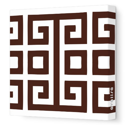 """Avalisa Stretched Canvas Nursery Wall Art, Big Square, Brown, 28"""" X 28"""" front-1000679"""