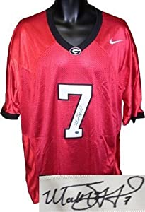 Matthew Stafford signed Georgia Bulldogs Nike Red Jersey- Stafford Hologram