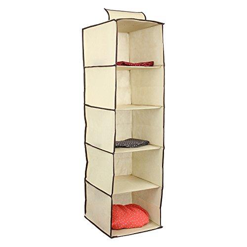 Ziz Home Hanging Clothes Storage Box (5 Shelving Units) Durable Accessory  Shelves   Eco  Friendly Closet Cubby, Sweater U0026 Handbag Organizer   Keep  Your ...