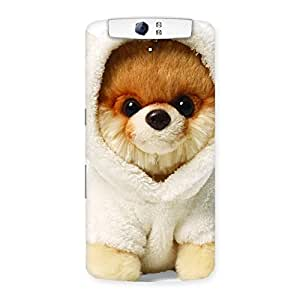 Gorgeous Boo Dog Multicolor Back Case Cover for Oppo N1