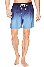 XXXL Blue Harbour Dip Dye Drawstring Quick Dry Swim Shorts