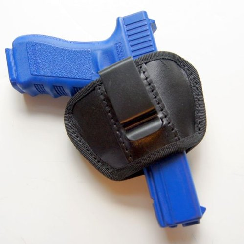Universal IWB & SOB Concealed Carry Clip Pistol Holster for Medium & Large Frame Semi-autos. Fits Sig Sauer, Colt 1911, Beretta 92F, Ruger, Glock and S&W