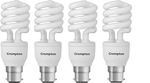 Spiral 15-Watt CFL Bulb (Cool Day Light,Pack of 4)