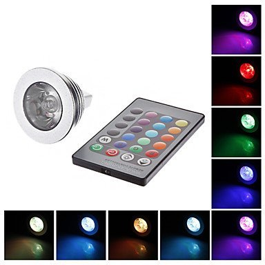 Color Changing 3W Mr16 Rgb Led Spot Light Spotlight Bulb Lamp 16 Colors With Remote Controller