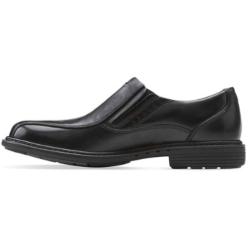 Clarks Men's UN Slip-On Loafer,Black Leather,8.5 M US