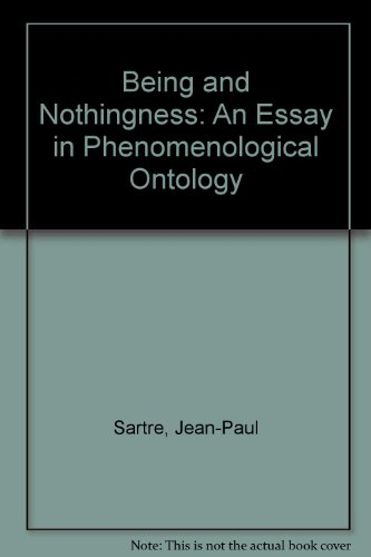 being nothingness essay Being and nothingness by jean-paul sartre, 9780415278485, available at book depository with free delivery worldwide.