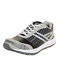 Zovi Men's Synthetic Black And Grey Sports Shoes (11116300701)