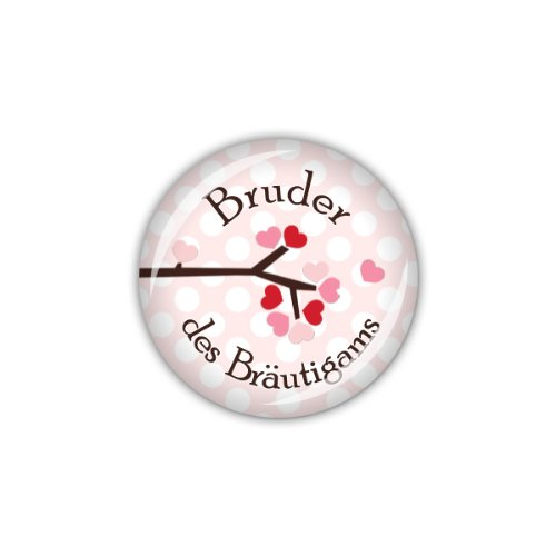 lijelove Buttons, 04-0110, Owl wedding - Bruder des Bräutigams, rosa, 25 mm
