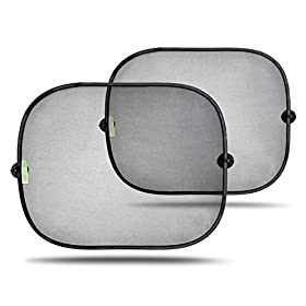 "Deluxe Easy Stick Window Sun Shades u00ae, 2-Pack for car or truck - Provides SPF-30 car window shade, eBooks for download FREE, ""Taking Your Kids on an Adventure"". Large high quality car sunshade keeps you cool - Window shades for your baby, - Sun protection for your Kids and Pets, eye sunshade - easy to stick, easy to remove window sunshade - The best buy from the Best sellers on Amazon"