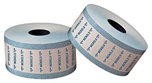 PM Company SecurIT $2 Nickel Automatic Coin Wrap Rolls, White/Blue, 1900 Wrappers per Roll, 8 Rolls per Carton (51905)
