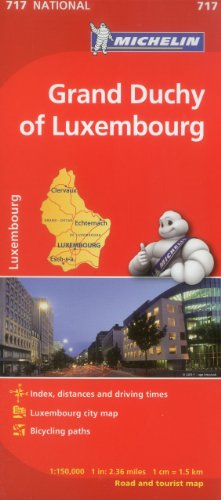 Michelin Luxembourg, Grand Duchy Map 717 (Maps/Country (Michelin))