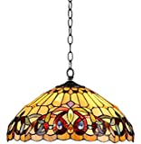 Chloe Lighting CH33353VR18-DH2 Tiffany-Style Victorian 2 Light Ceiling Pendent Fixture 18-Inch Shade, Multi-Colored