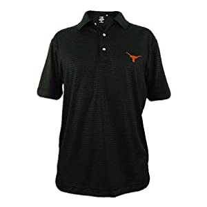 Texas Longhorns Mens Cutter and Buck Drytec Luxe Points Drive Polo by Cutter & Buck