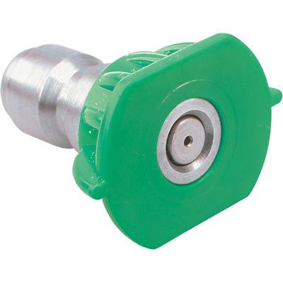 Pressure Washer Sprayer Nozzle Tip Size 5.5 Or 055, Color Green 25 Degree Stainless Steel Quick Couple For 3000 Psi, 3500 Psi, 4000 Psi, 4500 Psi Pressure Washer