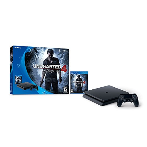 PlayStation 4 Slim 500GB Console - Uncharted 4 Bundle(Versione USA, importato)