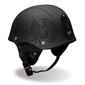 Bell Drifter Black Hide Motorcycle Helmet - Size : Large