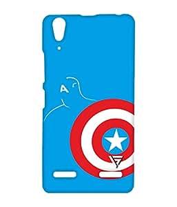 Vogueshell Captain America Logo Printed Symmetry PRO Series Hard Back Case for Lenovo A6000
