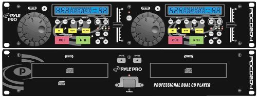 New Pyle-Pro PDCD204 19'' Rack Mount Professional Dual CD Player With Jog Dial