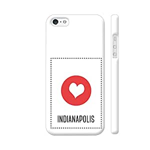 Colorpur I Love Indianapolis Designer Mobile Phone Case Back Cover For Apple iPhone SE | Artist: Torben