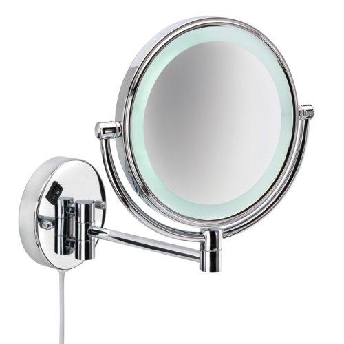 romaneros e nie wieder bohren mr430 miroo beleuchteter kosmetikspiegel doppelseitig 5fach und. Black Bedroom Furniture Sets. Home Design Ideas