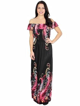 Flaming Floral Graphic Print Black Maxi Dress Women Summer
