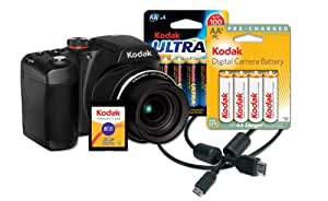 Kodak EasyShare Z5010 Digital Camera Bundle with 21x Optical Zoom and HD Video Capture (Includes Rechargeable Batteries, HDMI Cable, 8 GB Memory Card)