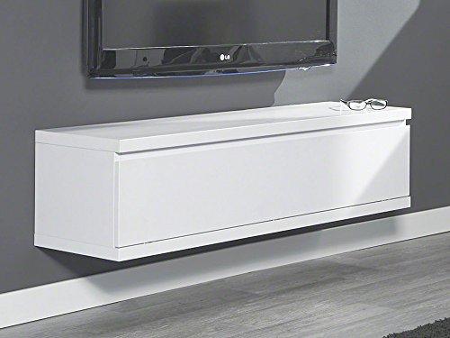 Hängeschrank Lowboard Weiß matt Lack 1 Klappfach 120x35x32cm