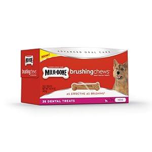 Milk-Bone Brushing Chews Daily Dental Treats - Mini Value Pack, 14.14 Ounce - 36 Bones