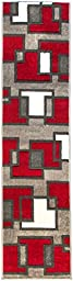 Imagination Squares Boxes Red & Grey Modern Ruby 20\