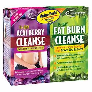 14 Day Acai Berry Cleanse With Bonus 14 Day Fat Burn Cleanse