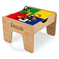 KidKraft Personalized 2-in-1 Activity Table with Brown Serif – Jacob