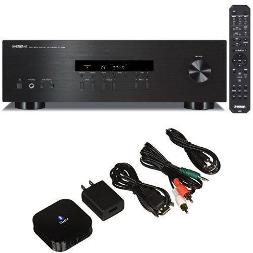 Yamaha R-S201BL 2-Channel Stereo Receiver with the HomeSpot NFC-Enabled Bluetooth Audio Receiver for Sound System