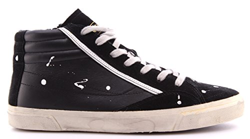 Scarpe Uomo Sneakers Alte BIKKEMBERGS BKE 108249 Rubber 518 Leather Suede Black
