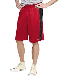 Champion Men\'s Crossover Short, Champion Scarlet/Black, Medium