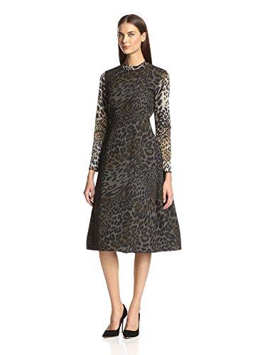 Christian Siriano Women's Jacquard A-Line Dress
