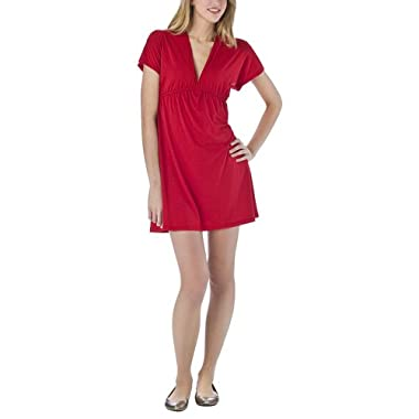 Mossimo Supply Co. Juniors Kimono Sleeve Dress - Chinese Red